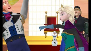 mmd frozen queen elsa punches prince hans theres somthing on your face meme 1