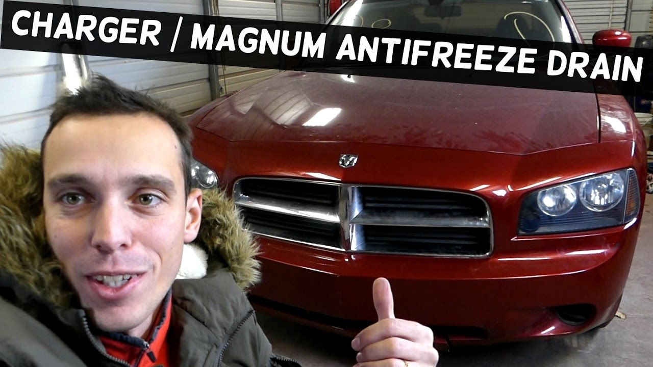 Dodge Charger How To Drain The Coolant System Magnum Youtube Dark Red Engine