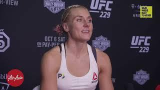 UFC 229: Yana Kunitskaya Wants Aspen Ladd After Overwhelming Win Over Lina Lansberg
