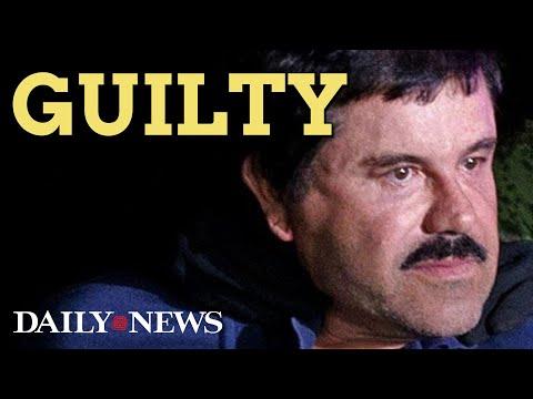 Joaquin 'El Chapo' Guzman found GUILTY