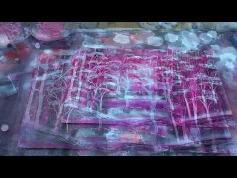 SPRAY PAINT ART LIVE Tutorial: Enchanted Forest by Ticasso