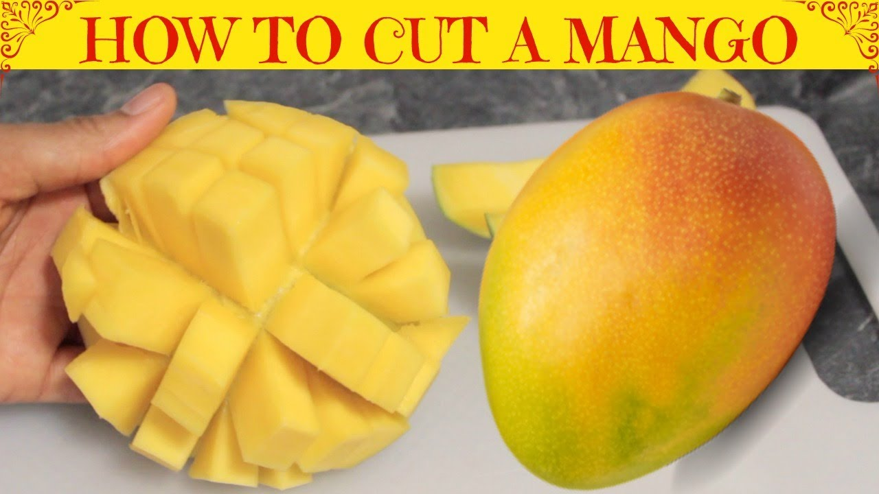 How To Cut And Dice A Mango  Easy Way To Cut A Mango