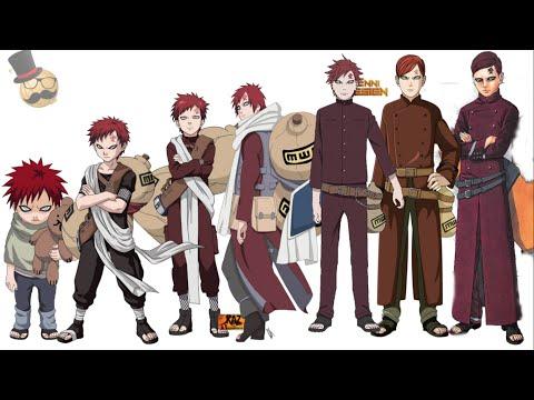 Naruto characters: Gaara † s evolution