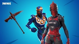 Fortnite new skins. Red knight,criterion,crimson axe,infinite dab emote