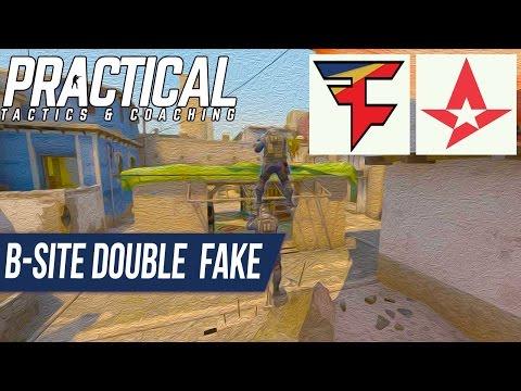 CS:GO Tactic -- Faze vs Astralis -- Mirage Double B-site Fake & Contact A-site Push