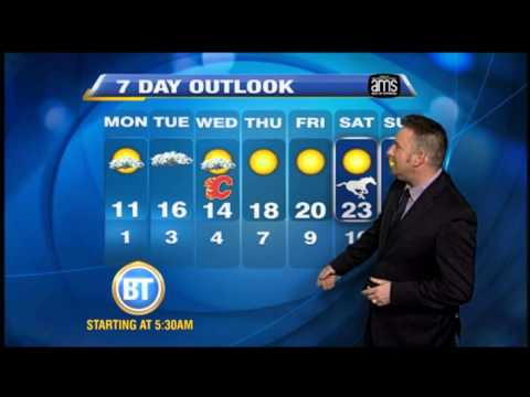 Calgary Weather Forecast for Monday, October 5th.