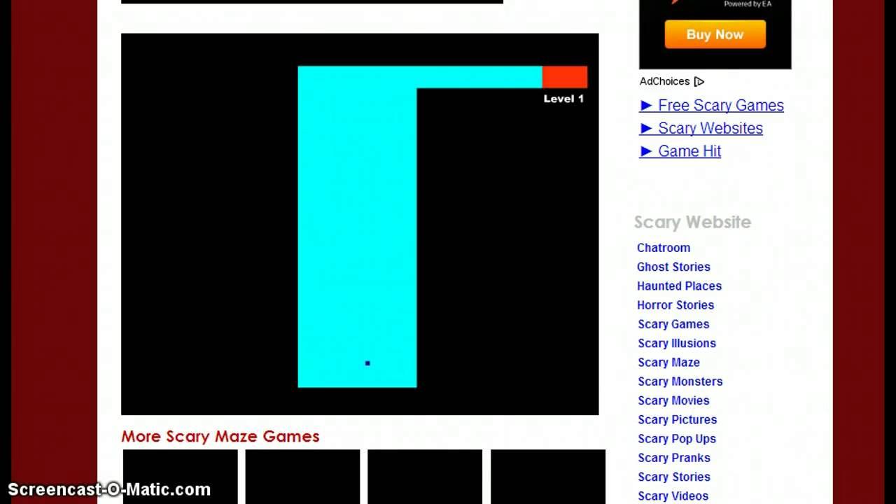 Scary maze game    fail!!