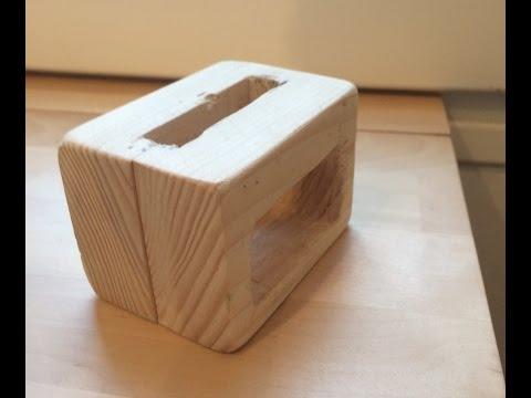 DIY - Passive wooden iPhone speaker Dock