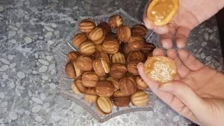 сегодня приготовим печенье, орешки со сгущенкой, в форме на газу, видео рецепт