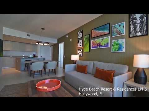 Hyde Resort and Residences Penthouse 06 in Hollywood for sale only 1.039 M