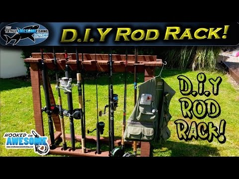 How To Make A Fishing Rod Rack From Pallet Wood | TAFishing