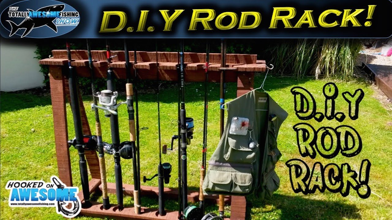 How To Make A Fishing Rod Rack From Pallet Wood Tafishing Youtube