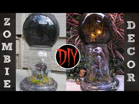 Zombie Votive | DIY Dollar Store Halloween Crafts | Craft Klatch