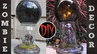 Zombie Votive   DIY Dollar Store Halloween Crafts   Craft Klatch