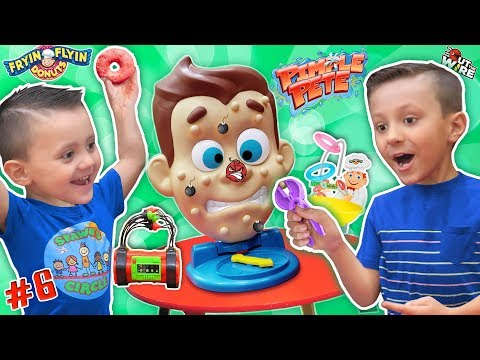 Shawns Circle: Pimple Pete's Dynamite Frying Flying Doh-Nuts 3 Games Challenge (#6)   DOH MUCH FUN
