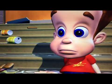 Jimmy Neutron Boy Genius Somebody Hold Me From Action News Special Report Movie Scene 2001