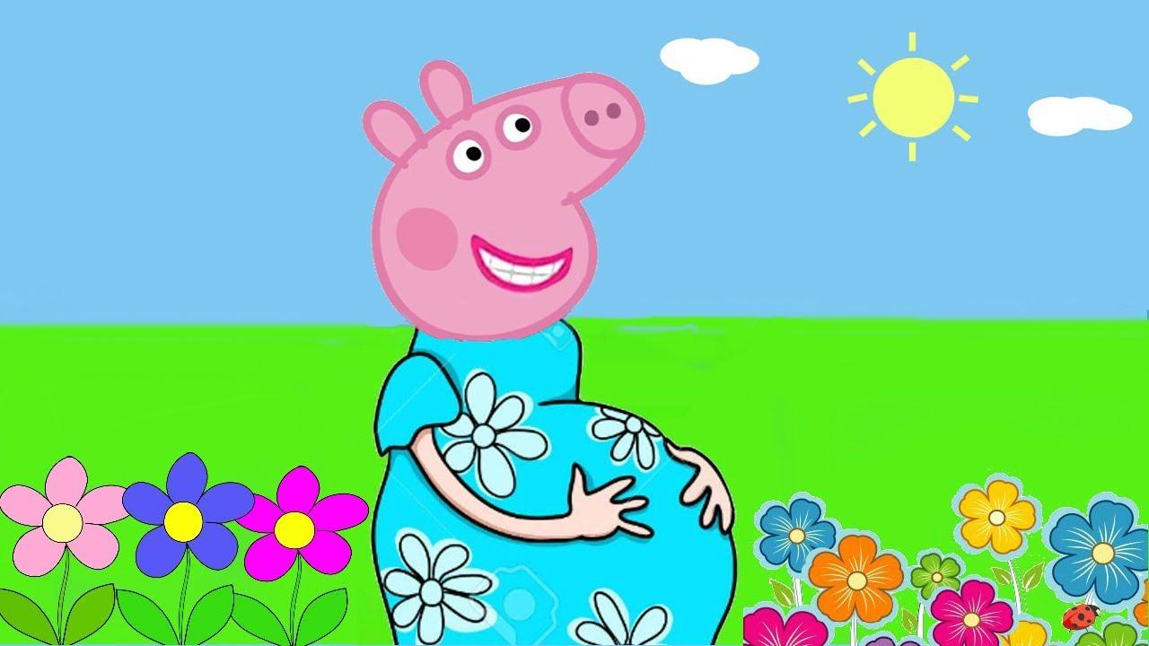 Peppa Pig Português Desenho Peppa Pig Grávida De 9 Meses