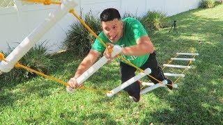Homemade Ladder Climb Carnival Game!