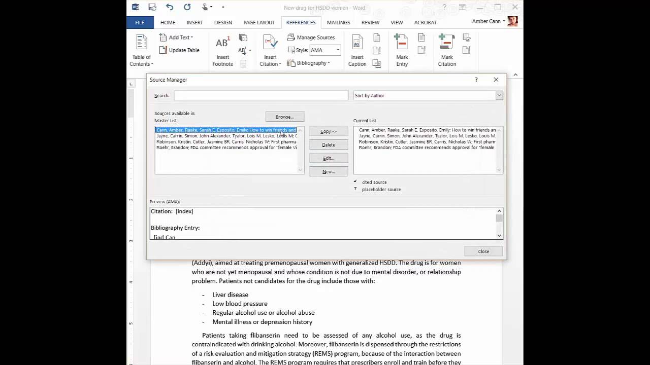 tutorial video automatically cite ama style in ms word  tutorial video automatically cite ama style in ms word