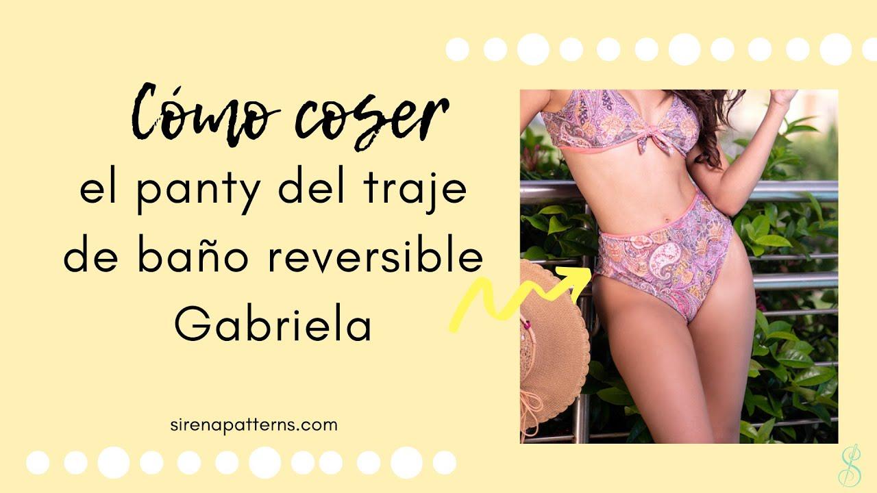 Cómo coser el panty del bikini reversible Gabriela