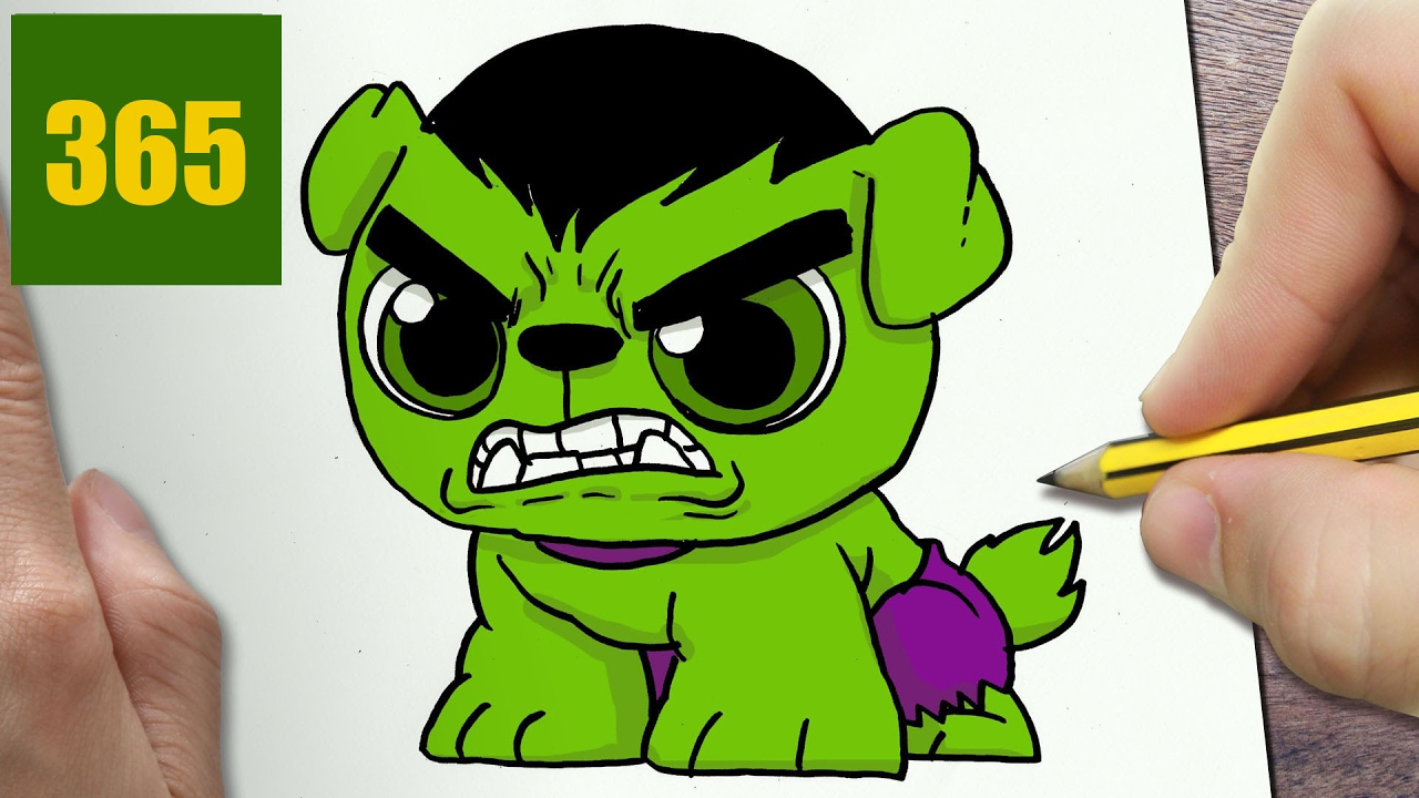 Comment Dessiner Hulk Chien Kawaii étape Par étape Dessins Kawaii Facile