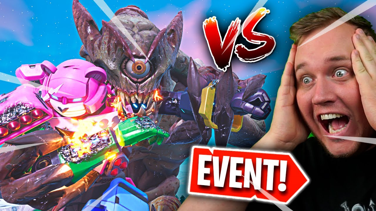 REAGERER PÅ FEDESTE FORTNITE EVENT *MONSTER vs. ROBOT* :: Fortnite Dansk