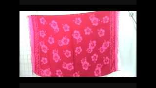 pink hibiscus fashion sarong wholesalesarong.com
