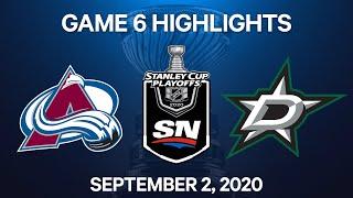 NHL Highlights | 2nd Round, Game 6: Avalanche Vs. Stars - Sept 2, 2020