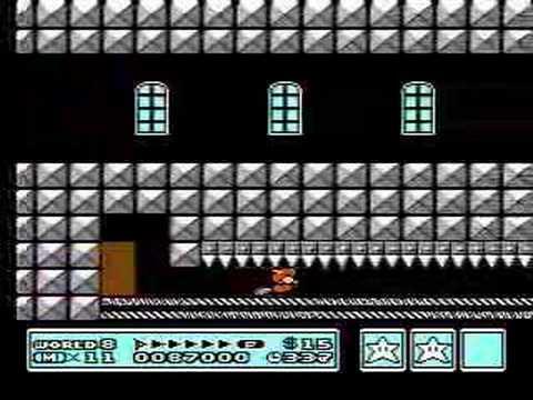 Super Mario Bros 3 Castillo Dark World (Fortress)