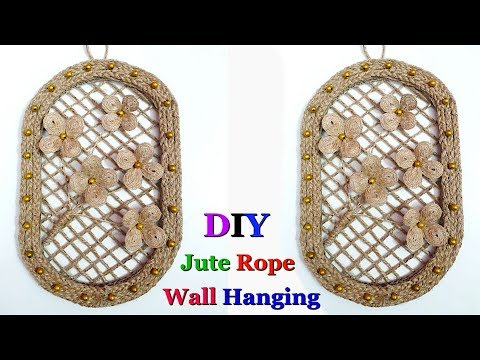 DIY wall hanging/wall decor made with jute rope|DIY jute craft idea