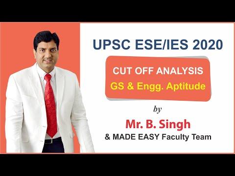 UPSC ESE/IES Prelims 2020 Paper-1 (GS & Engg. Aptitude) Analysis -Expected Cutoff -MADE EASY Faculty