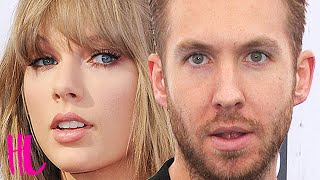 calvin harris reacts to taylor swift tom hiddleston dating video