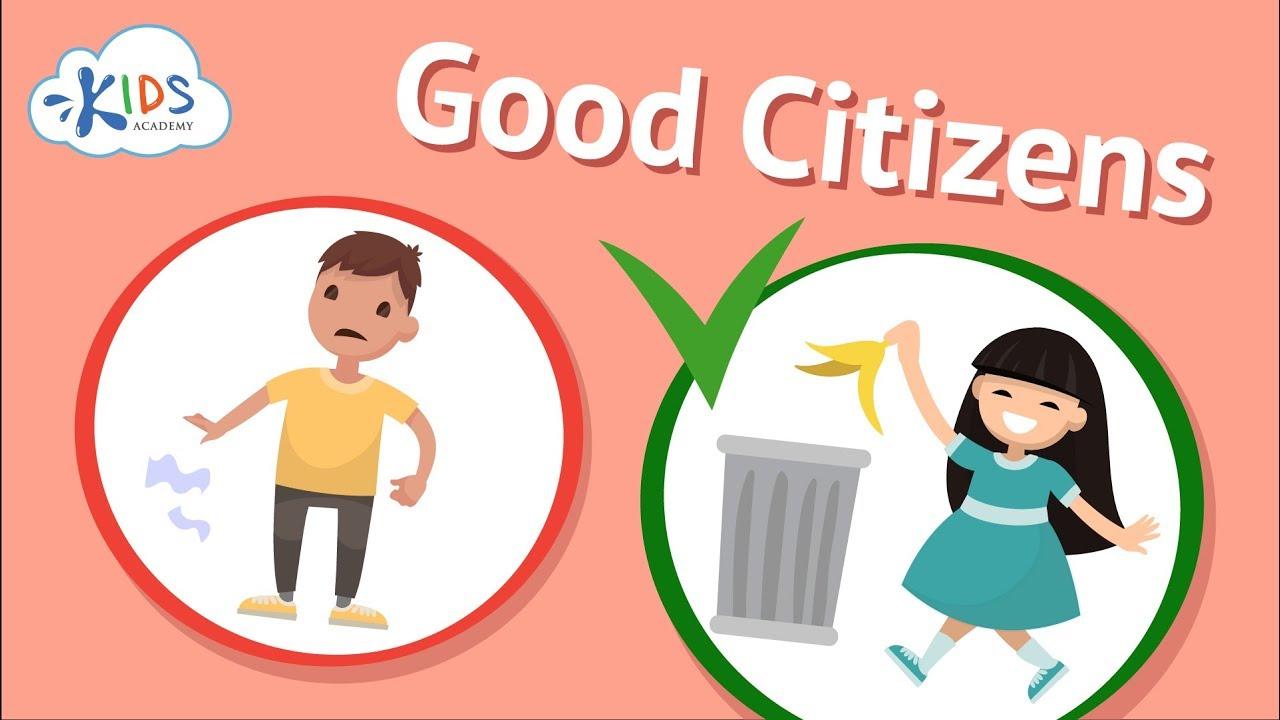 Good Citizenship \u0026 Social Skills for Kids   Being a Good Citizen   Kids  Academy - YouTube [ 720 x 1280 Pixel ]