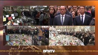 Attentats à Paris: minute de silence à Paris