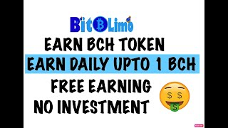 EARN BCH TOKEN FREE UNLIMITED / PAYING SITE/ EARN DAILY UPTO 1 BCH TOKEN / WITHOUT INVESTMENT