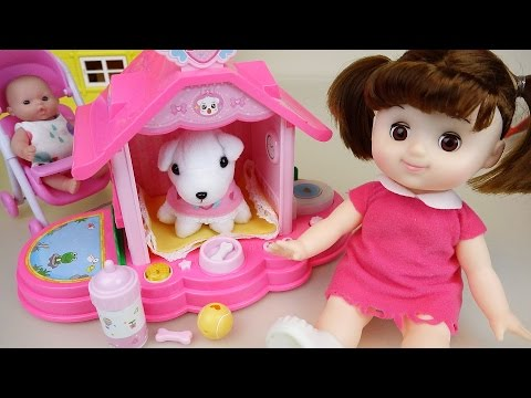 Little Dog house and Baby doll toys