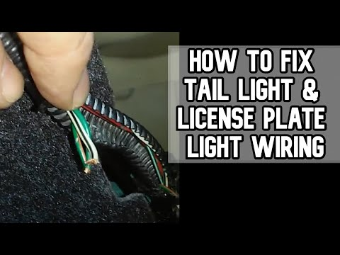 How to fix Tail Light and License Plate Light Wiring DIY Video PART