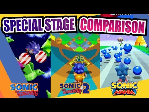 Sonic the Hedgehog, 2, CD, 3 & Knuckles and Mania (Special Stage) Comparison