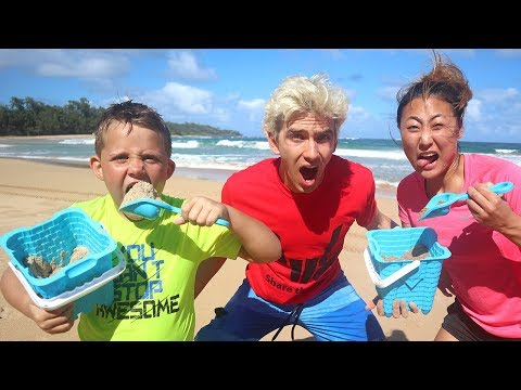 DIY Edible Sand vs Real Sand Prank on Stephen Sharer & Liz Sharer