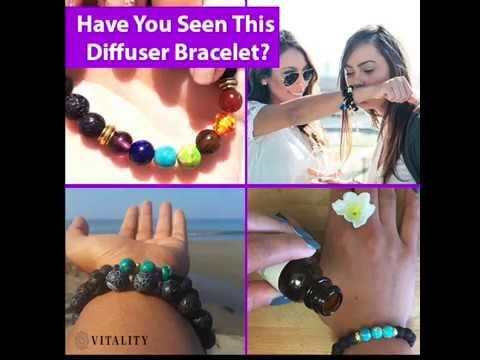 7 Chakra Essential Oil Diffuser Bracelet