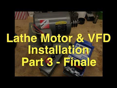 South Bend Lathe 3 Phase Motor Vfd Installation Part 3