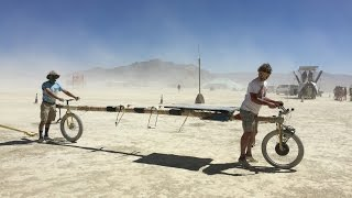 Solar Powered Bamboo Bike