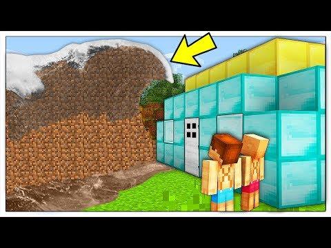 ONDA GIGANTE DI TERRA CONTRO RICCA BASE DI DIAMANTI! - Minecraft ITA