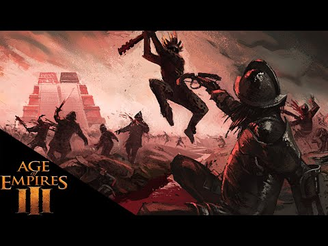 Age Of Empires 3 - Aztec Skull Knight Army - Age Of Empires 3 2v2 Multiplayer Gameplay
