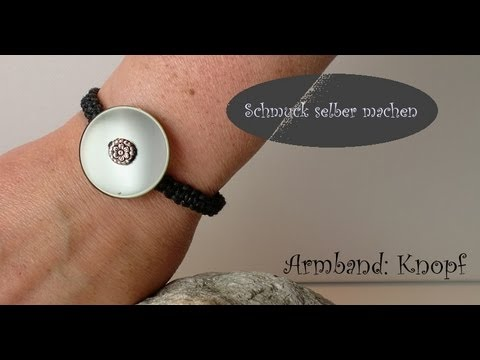 schmuck selber machen makramee armband unisex knopf mit knopfverschluss youtube. Black Bedroom Furniture Sets. Home Design Ideas