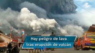 Hasta el momento no se reportan víctimas por la erupción del volcán Sinabung; la ceniza expulsada llegó a poblaciones a hasta 20 kilómetros de distancia