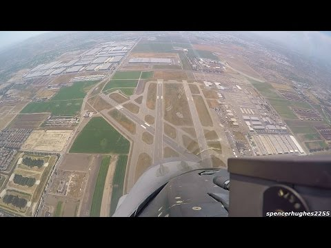 F-16 Viper Demo & Heritage Flight (FORWARD COCKPIT VIEW)
