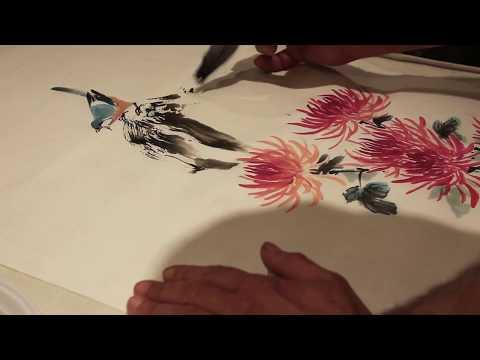 Китайская живопись с Вячеславом Синкевичем Хризантема