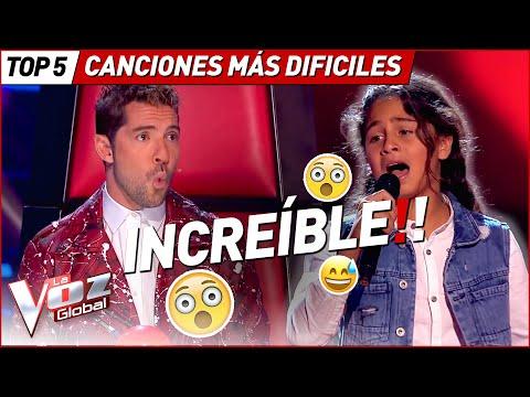 Las canciones MÁS DIFÍCILES de cantar en La Voz Kids