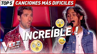The HARDEST SONGS to sing in La Voz Kids